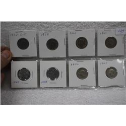 Canada Five Cent Coins (8)