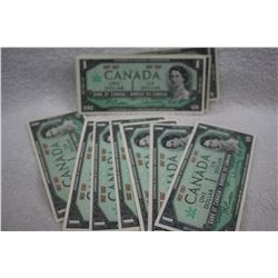 Canada One Dollar Bills (24)
