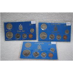 Canad Mint Coin Sets (3)