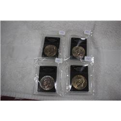 U.S.A. One Dollar Coins (4)