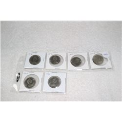 Canada Fifty Cent Coins (6)