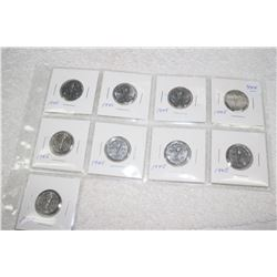 Canada Five Cent Coins (9)