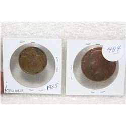 English Large Penny & Philkippines One Centavo
