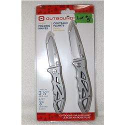 Folding Knives - 2 Pack - New