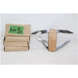 5 Small Multi Blade Knives - New