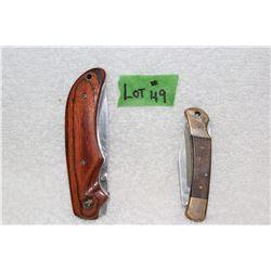 2 Lock Blade Knives - 1 Elk Ridge & 1 Winchester