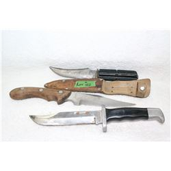 3 Knives - 1 Ruko; 1 German (with Sheath) & 1 Japan