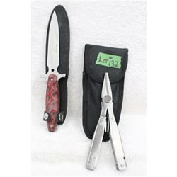 2 pc. Fixed Blade & Multi Tool - New