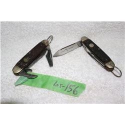 2 Vintage - 4 Blade Knives - Boker - U.S.A.