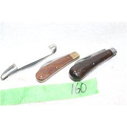 3 Lock Blade Knives