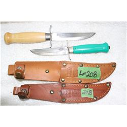 2 Frosts Knives - with Sheaths - Sweden