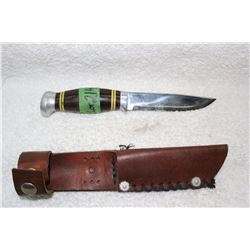 Hunting Knife - with Leather Case - R.J. Richter - Norway