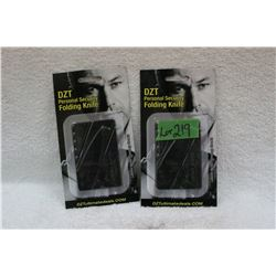 2 DZT Personal Security Knives - New