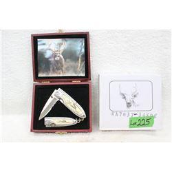 Collector Knife Set - Deer - New