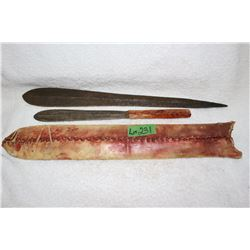 2 Handmade African Knives with Hide