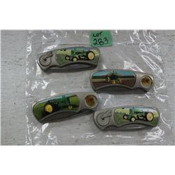 4 John Deere Collector Lockblade Knives