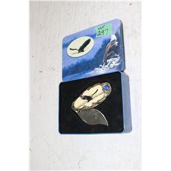 1 Collector Knife w/Metal Tin - Eagle