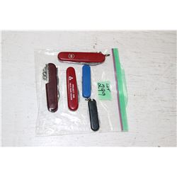5 Collector Swiss Army Knives
