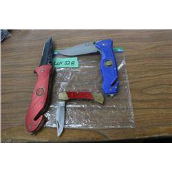 2 Large - 1 Small Lockback Knives