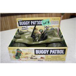 Bugay Patrol Jeep; Light Flash; Antenna Light; Rolls & Tumbles - in the Orig. Pkg.