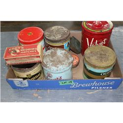 Flat of 8 Collectible Tins