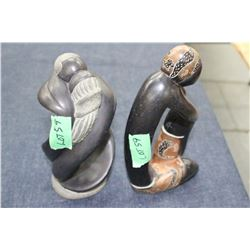 2 Soap Stone Type Carvings
