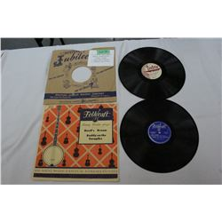 2 - 78 RPM Records - 1 Square Dance Calling - 1 Fiddle Music (Mint)