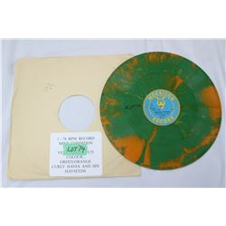 1 - 78 RPM - Curly Hayes & His Hay Seeds (Very Rare) Multi-Colour Green/Orange