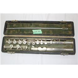 A Boston Wonder Flute, Patent Sept. 14, 1915 - Silver Plated Brass
