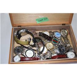 16 Watches in a Cigar Box