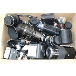 1 Box of Old Camera Parts