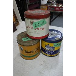3 Collector Tobacco Tins