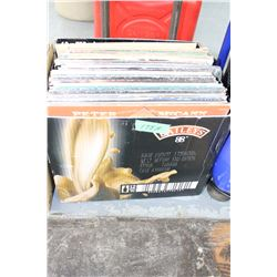 Box of 58 - 33 RPM Records (Little known artists)