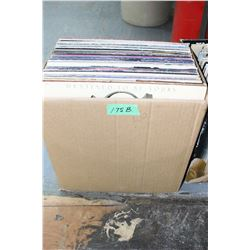 Box of 56 - 33 RPM Records ( Little known artists)