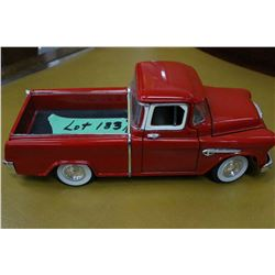 Die Cast 1955 Red Chevrolet Cameo Pick Up