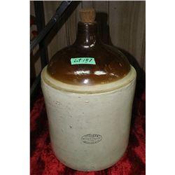 5 Gallon Medalta Stoneware Liquor or Wine Jug - Very Good Condition