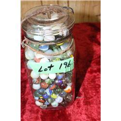 Quart Jar of Marbles