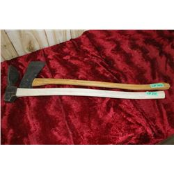 """One Adz & a Hand Forged Axe - 34"""" Handles"""