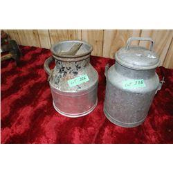 2 - 1 Gallon Cream Cans