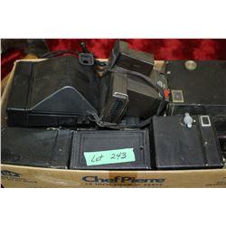 Box of 12 Brownie Box Cameras & 2 Polaroid Cameras