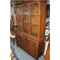 China Cabinet (Matches Lot #245) by Gibbard - Good Condition - Quality Craftsmanship