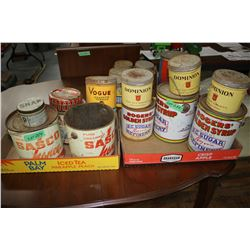 2 Flats of Collector Tins