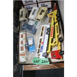 Flat of Toy Collectible Cars & Truck