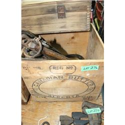 Butter Box containing Harness Related Items
