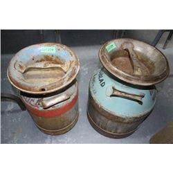 2 - 3 Gallon Cream Cans