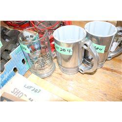 2 Snap-On Piston Mugs & a Bon Accord Hotel Mug