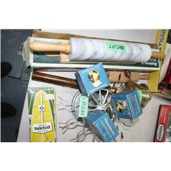 Flat w/2 Rolling Pins, Waterman's Ink, Metronome, Rubber Stamp Holder & Buddhist Prayer Bell