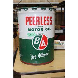 5 Gallon B/A Peerless Premium Motor Oil Pail