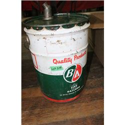 5 Gallon B/A Oil Pail.  The British American Oil Company Limited