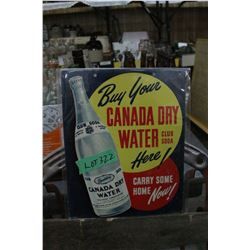 Cardboard Canada Dry Water Advertising Sign